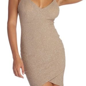 Selling a glittery nude dress, only worn once. XS